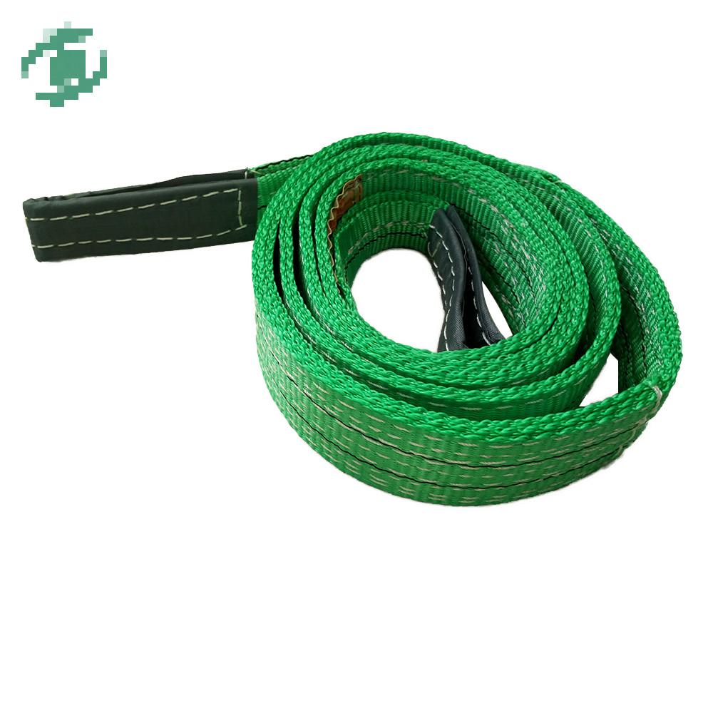 Hebei Baoding polyester 2-ply 5 ton webbing sling belt type/acid resistant slings/nylon lifting sling