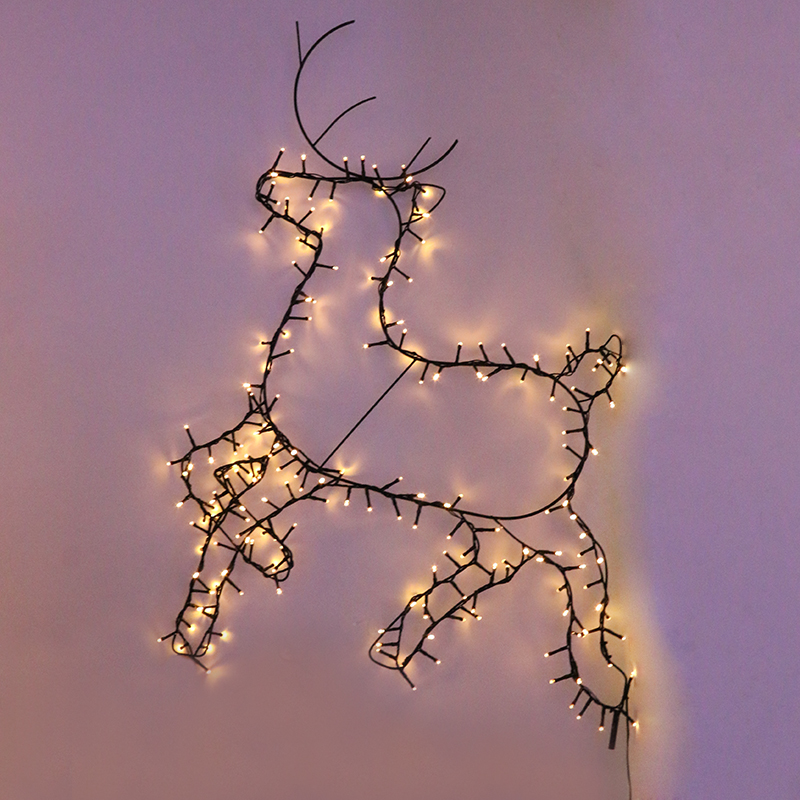 200 warm white LED metal frame deer christmas lights outdoor