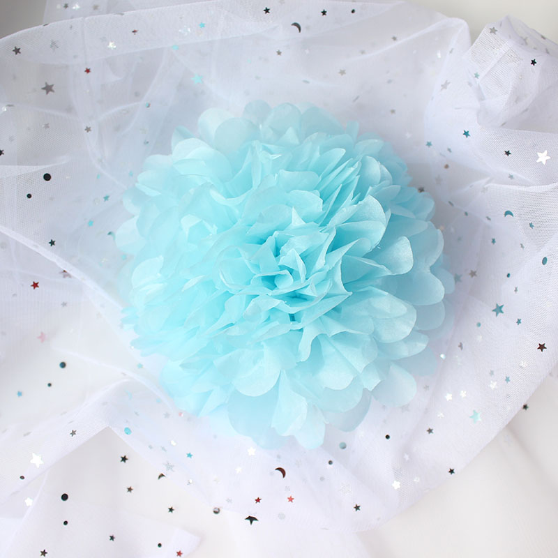 YO CHO White Pink 15 40cm Big Small Tissue Paper Pompoms Decoration Wedding Party Decor Flowers Paper Pompom Artificial Flowers