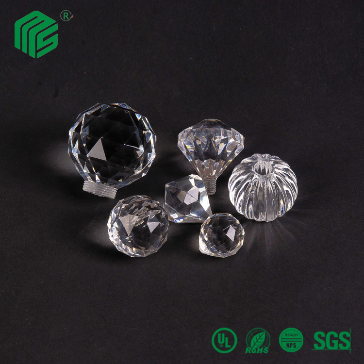 Wholesale plastic crystal acrylic door drawer adhesive knobs for sale