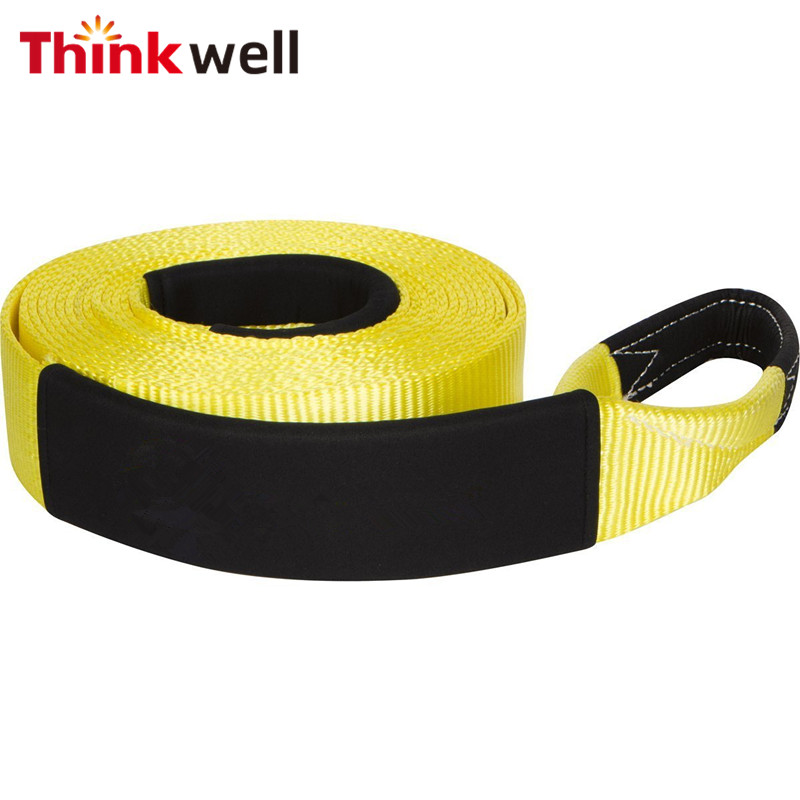 Car Nylon Towing Rope Towing Pull Rope Heavy Duty Tow Strap Rope for sale