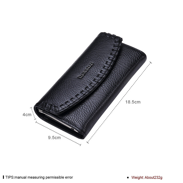 Jenia High Quality Women Best Selling Elegant Fashion Black Simple Wallet for sale