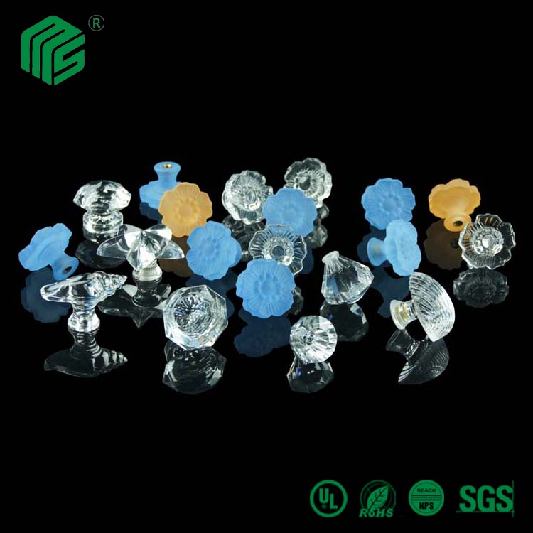 25mm solid transparent colorful plastic ball,acrylic ball for handle acrylic handle with mental for sale