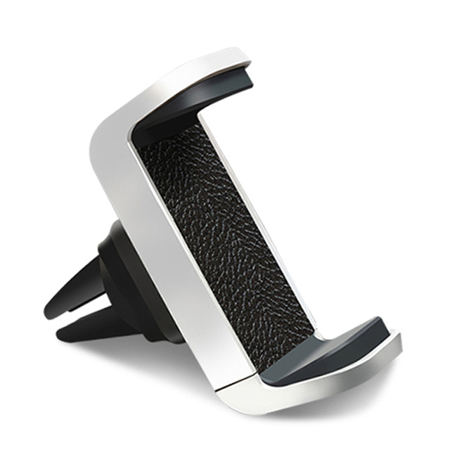 Anti-slip Cell Phone Car Holder Leather Material Air Vent Mount Smartphone Car Holder For iPhone Cell Phones for sale