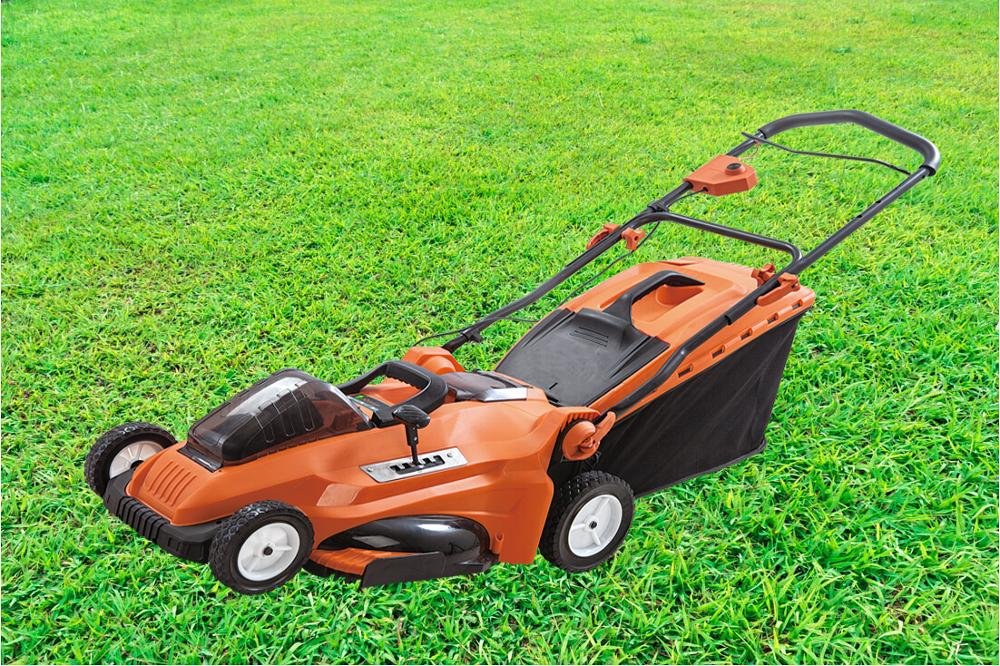 Lithium-ion battery electric motor lawn mower for sale