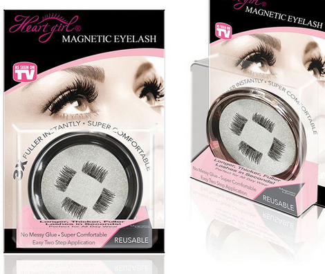 Pingdu Hear Girl Prime Magnetic Lashes Magnetic Eyelashes with Pretty Packing Box for sale