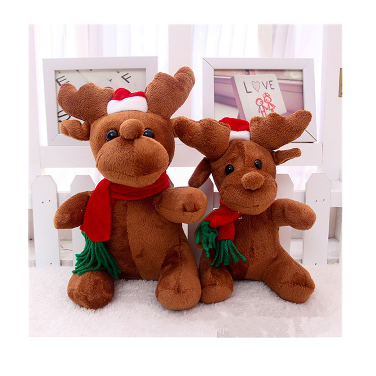 Plush Snowman Reindeer Doll Christmas Tree Hanging Decoration Plush Toy sale
