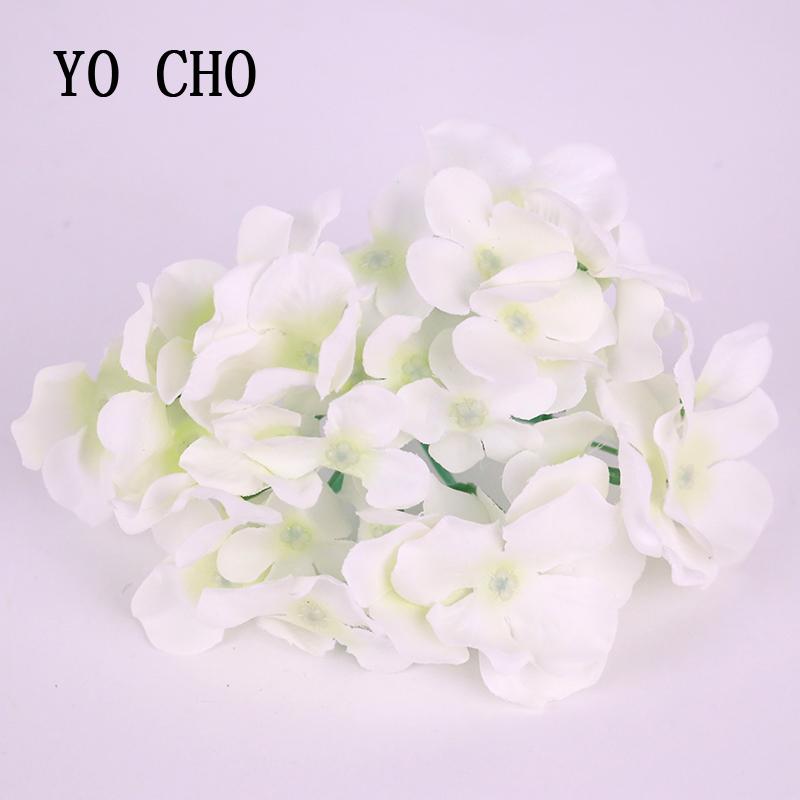 High Sale Quality hydrangea artificial flower head silk flower heads holiday party favors wedding