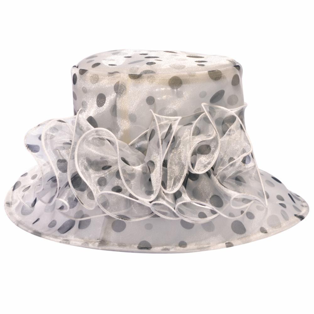 Wholesale New Design Ladies Elegant Summer Organza Tea Party Hat for Wedding for sale
