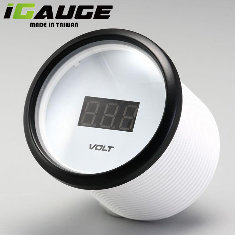 52mm Blue LED Display Waterproof 12V Analog Voltmeter Digital Gauge for Ship for sale