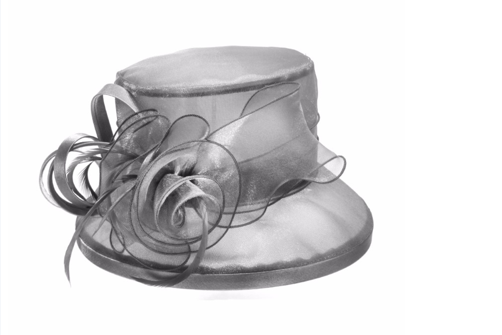 Customized Lady Gauze Church Hat Floral Vine Dress Hat Derby Wedding Party Hat for sale