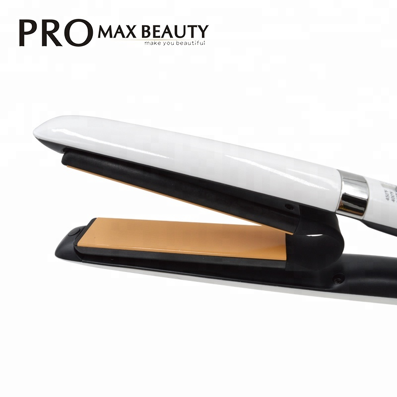 Hot selling dual voltage V Shaped Titanium Hair Straightener for home & salon use for sale