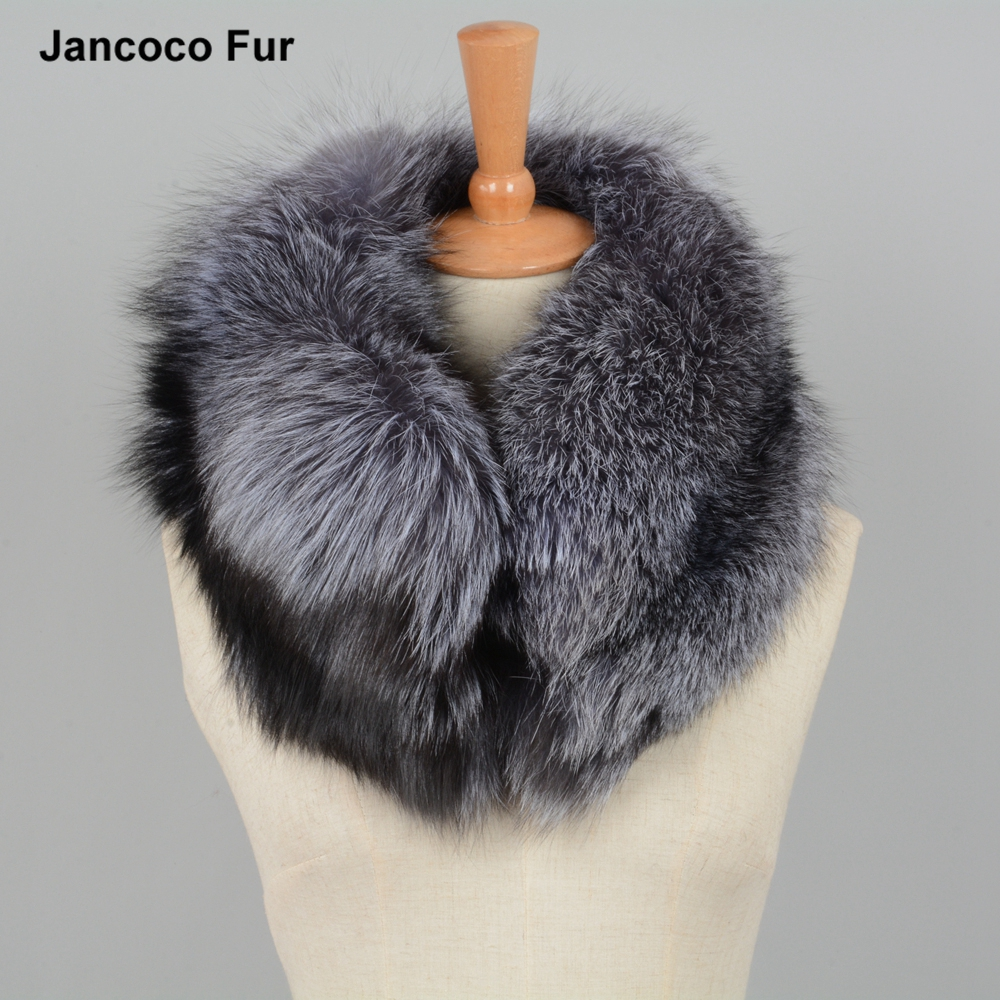Best Choose Winter Thick Warm Real Silver Fox Fur Scarf Women's Shawls Cape for sale