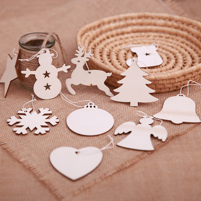 New Christmas decorations Ornament Christmas tree wooden pendant sale