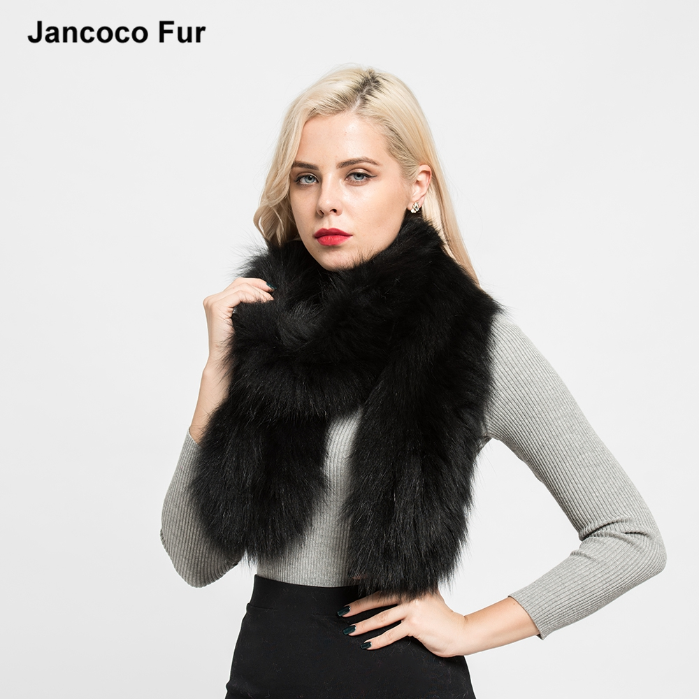 Great Design Winter Lady Real Fox Fur Knitted Long Scarf Soft Warm Shawls Best Gift Mufflers for sale