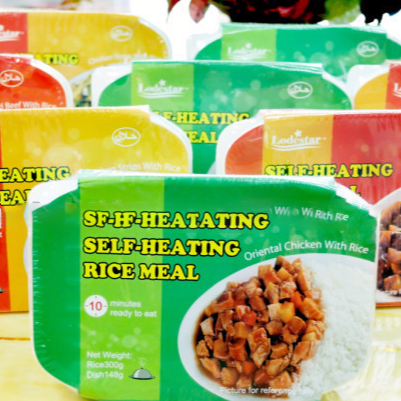 ready to eat meal self heating rice foods for sale