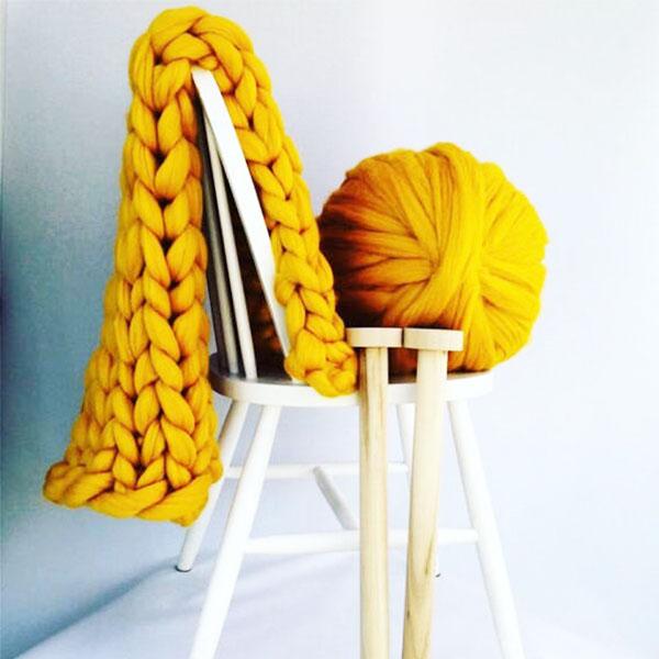 Wholesale Australia original organic solid Eco-friendly dyed bulky merino wool for sale