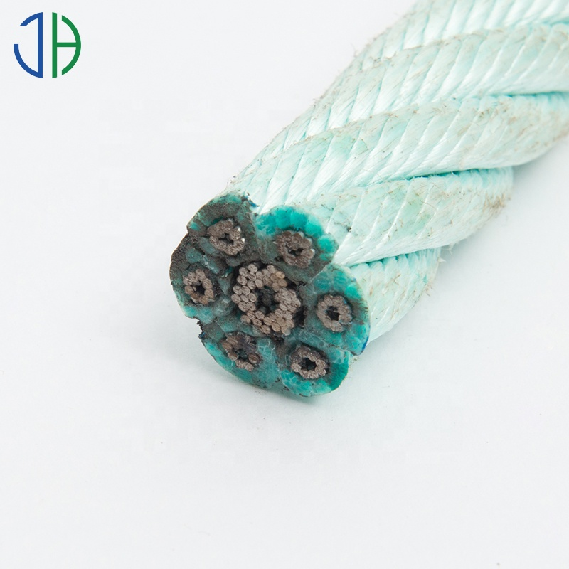 24mm 6 Strands PP Rope Combination with Steel Core For Fishing for sale