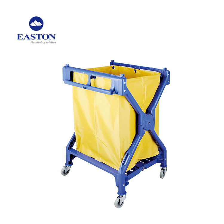 Hotel Foldable Design Strong Plastic Material Cleaning Carts sale