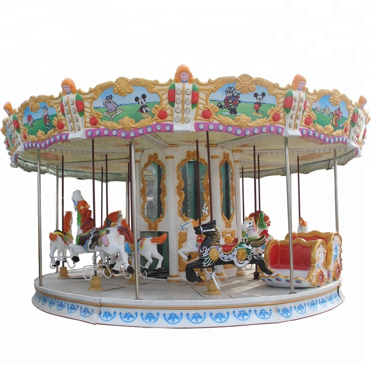 Mechanical carousel/mechanical carousel horse ride/merry go round for sale