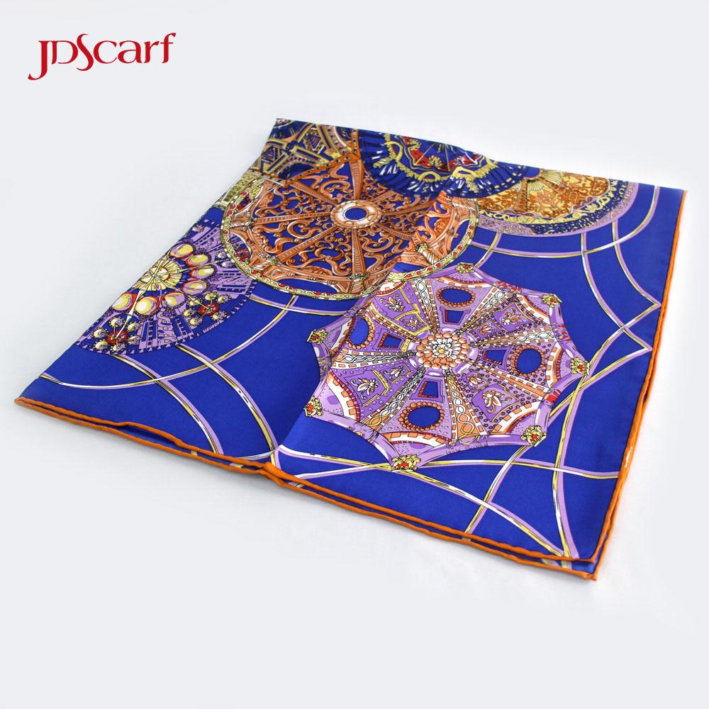 Digital print custom design hand rolled silk scarfturkey twill silk scarves for sale