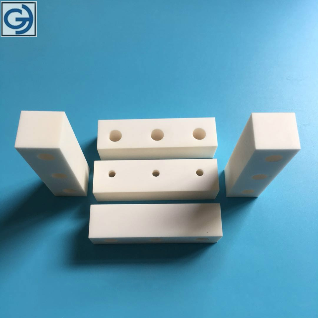 CNC machined 99.7%alumina ceramic insulator for sale
