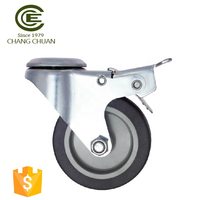 CCE Caster 3 Inch Hollow Trolley Wheel Kingpin Swivel Caster With Brake Sale