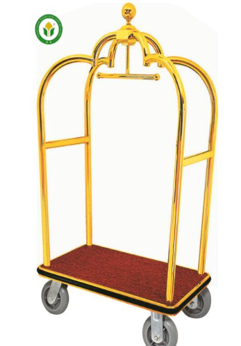 Hotel Luggage Cart Luggage Trolley Baggage Trolley/bellman cart,crown golden luggage trolley for sale