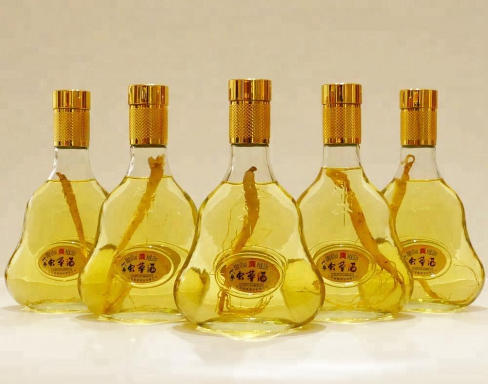 Jiangjunjing 250ml Ginseng cordyceps wine fragrance liquor Tonic liquor for sale