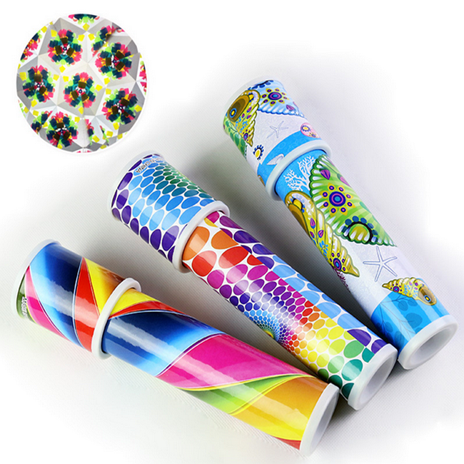 Wholesale Christmas Gift Traditional Magic Telescope Toy Paper Mini Kaleidoscope sale