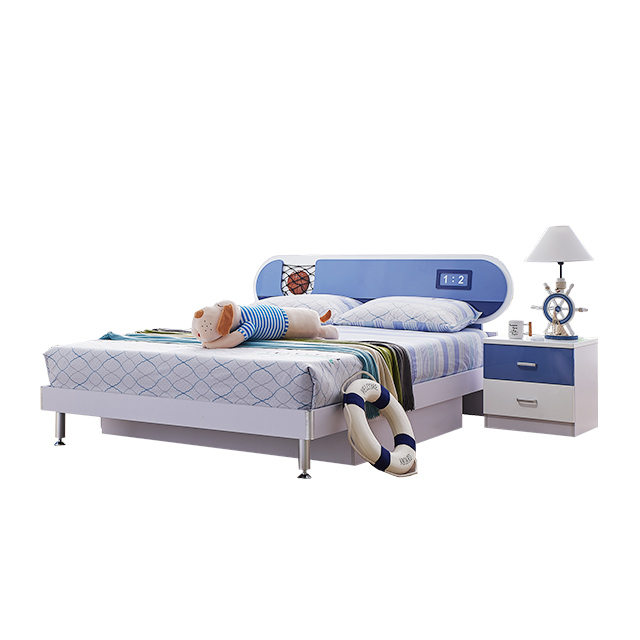 Guangdong IKS Green Color Bedroom Set: Queen/Full Panel Headboard, Dresser, Mirror, Nighstand kids bedroom furniture for sale