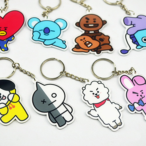 BTS 21 BT21 Acrylic Key Chain Ring Custom Keychain sale