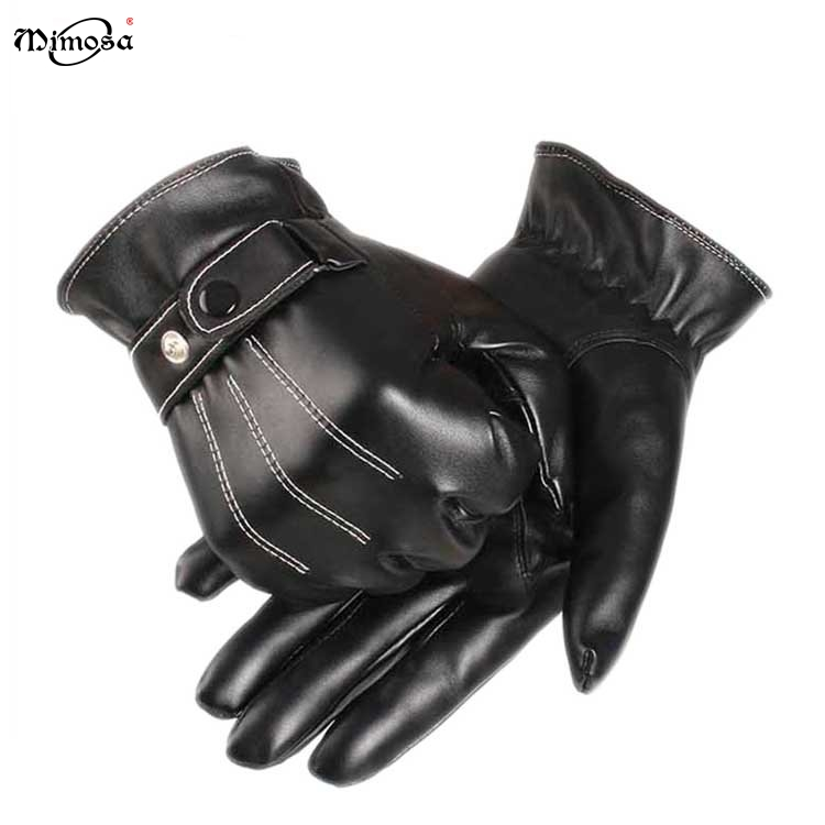 2017 designer New style sheep skin leather winter men driving hand gloves for sale