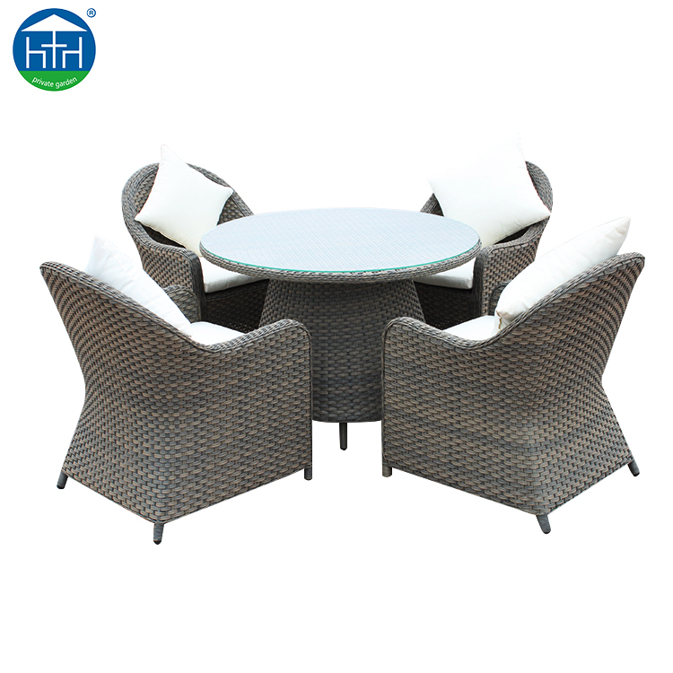 Weather Resistant Commercial RestaurantOutdoor Garden Furniture Aluminum Wicker Dining Chair PE Rattan Furniture Outdoor Dining