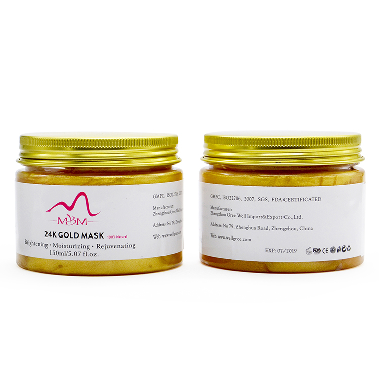 Private Label Skin Care Collagen Powder 24K Gold Mask for sale