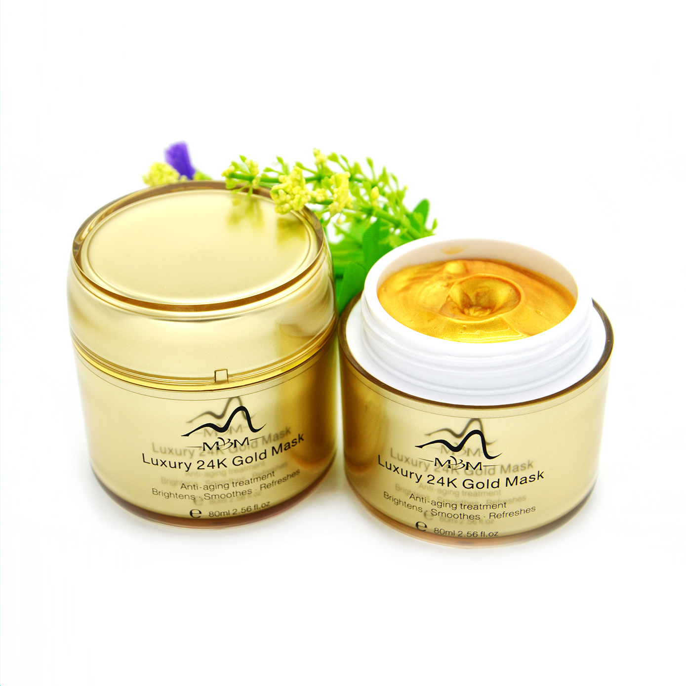 2018 Hot Sell Luxury Anti Aging Whitening 24K Gold Face Mask sale