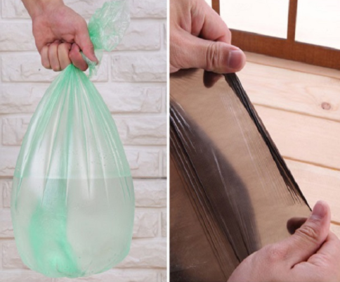 Custom PE plastic garbage bag with high quality for sale