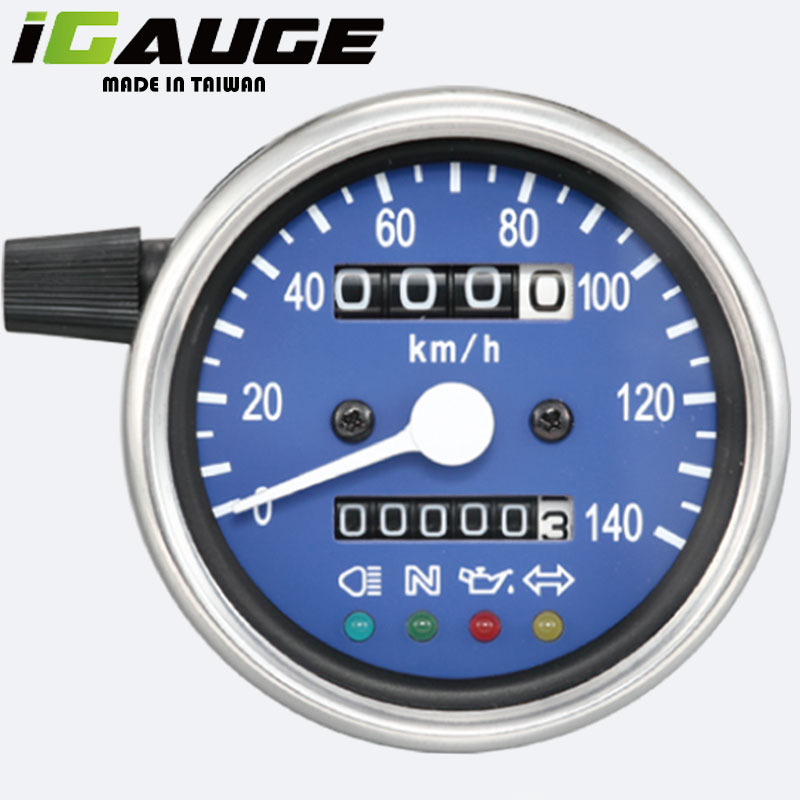 Blue Face White LED Motorcycle Speedometer for sale