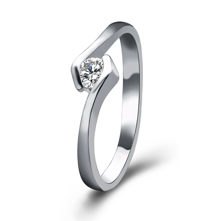 Wholesale Classical light Weight Fashion Nice Women Ring Simple Ring Designs silver plated Ring for sale
