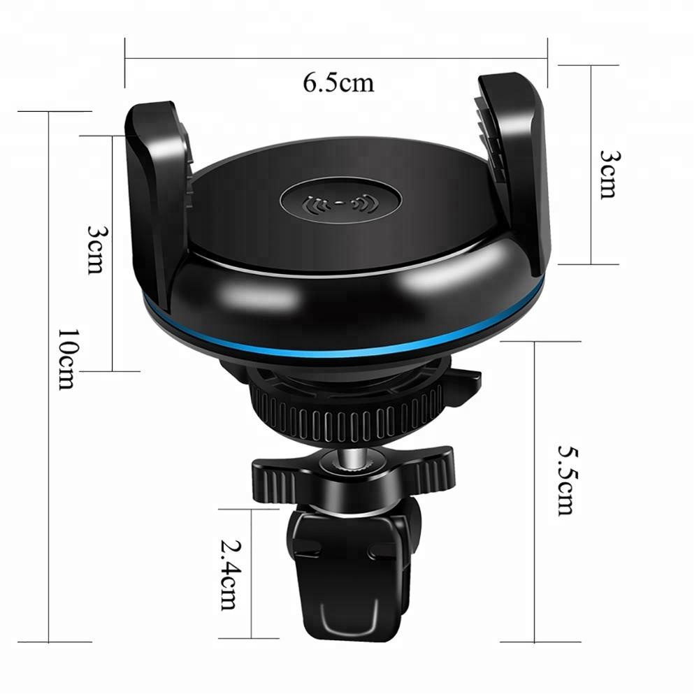 Antye vehicle qi wireless car charger mount charging dock for iphone X 7 8 Plus Samsung S8 Plus for sale