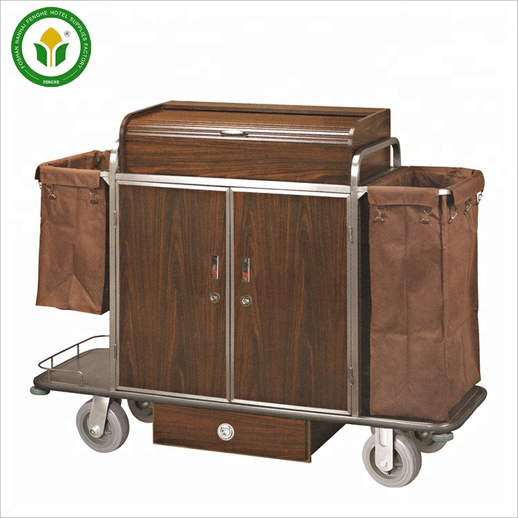 Hotel cleaning service trolley/ guest room service cart for sale