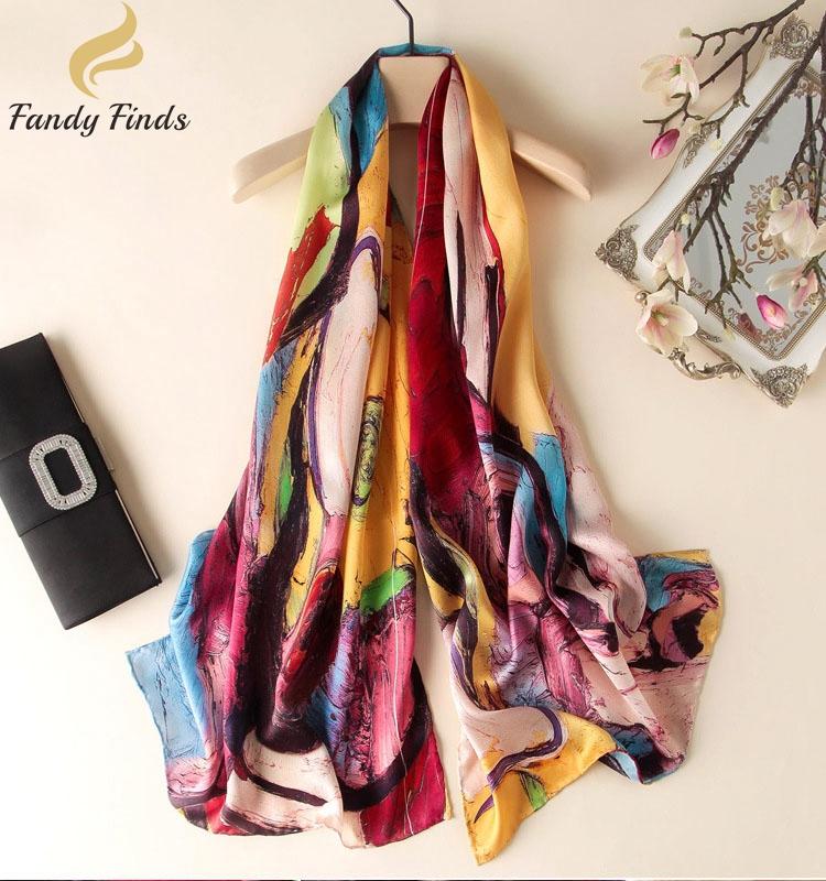 Hangzhou 100% Formal Silk Scarves for Flower Patterns for sale