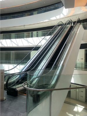 Aluminum Step Outdoor Escalator Moving Walk For Sale