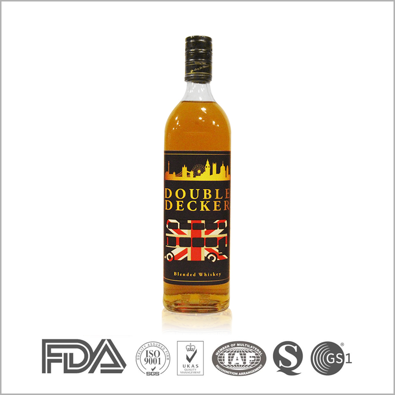 Premium blended grain whisky with 1000ml glass bottles for sale