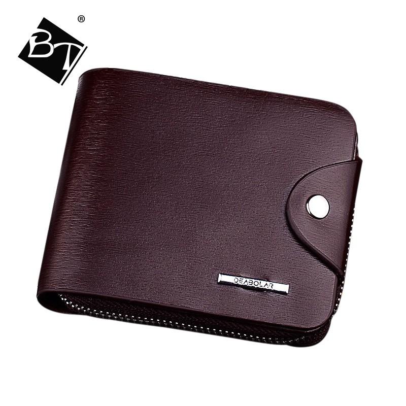 BT hot selling custom funky unique short pu leather men wallets for sale