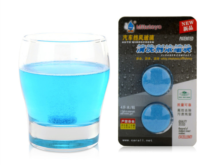 Winter Car Care Liquid Soap Windscreen Wiper Tablets Concentrated Waterless Shampoo for sale
