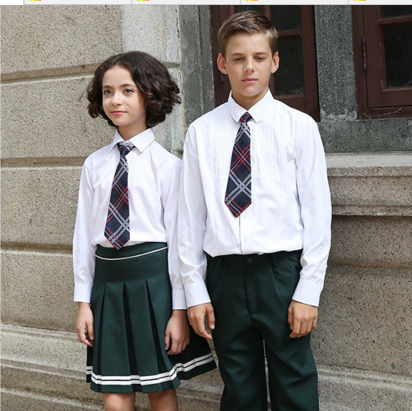 Boshi Wholesale Cotton Plus Size School Uniform White Shirt school skirt Custom Canton Fair seller