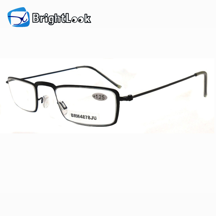 Mini clear lens small frame metal ultra slim reading glasses for sale