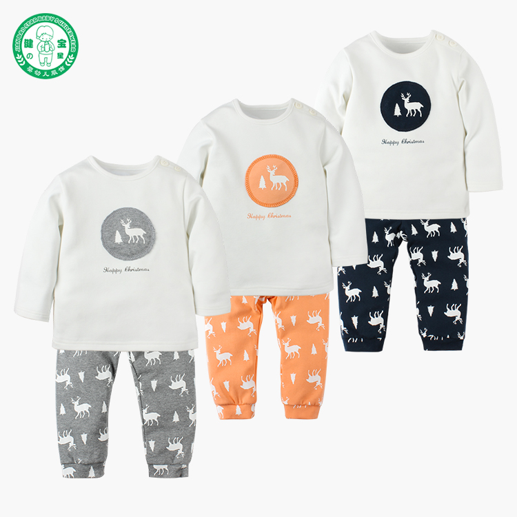 Wholesale 100% cotton cheap 2018 christmas children clothing for sale
