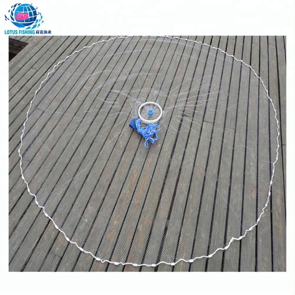 hot fishing american nylon cast net hoop net for sale